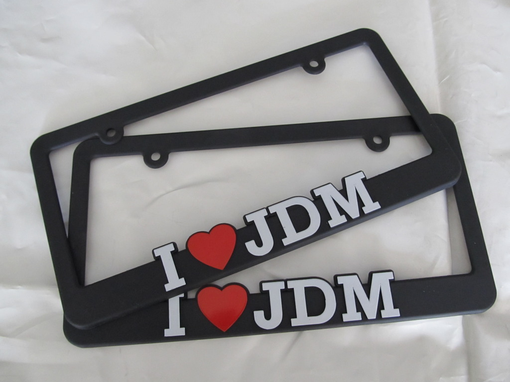 I Love JDM License Plate Frame Single
