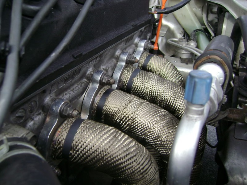 Exhaust Heat Wrap >> Mishimoto Heat Wrap 2 X 35 Roll With Stainless Steel Locking