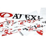 A'PEXi 12 inch Decal - Black