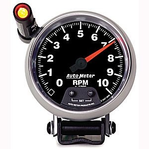 "Autometer GS Mini Monster - 3-3/8"" TACH, 10,000 RPM, SHIFT-LITE"