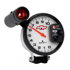 "Autometer GM 5"" TACH, 10,000 RPM, SHIFT-LITE"