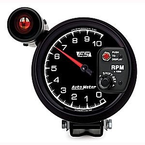 "Autometer ES 5"" TACH, 10,000 RPM, SHIFT-LITE"