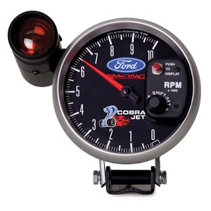 "Autometer Ford Cobra Jet with Snake 5"" TACH, 10,000 RPM, SHIFT-LITE"