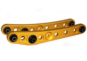Blox Racing Rear Lower Control Arms :: 1990-2001 Acura Integra; 1989-1995 Honda Civic, CRX, Del Sol Gold