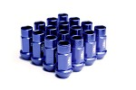 Blox Racing Street Series Forged Lug Nuts, 12 x 1.5mm - Set of 16 Blue