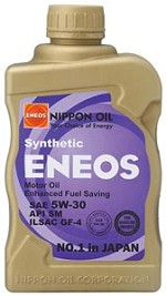 ENEOS Synthetic Motor Oil 5W-30 (6 Quarts)