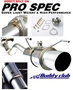 Buddy Club Pro Spec Exhaust 1992-00 Honda Civic 2/4D
