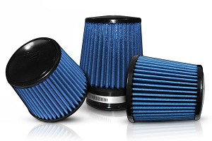 "Injen - Web Nano-fiber Dry Air Filter- 5"" flange diameter 6 1/2"" Base/5"" Tall/ 5 1/4"" inverted cone top- 70 pleat"