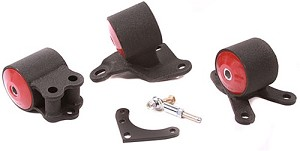Innovative Motor Mounts - 1994-01 Integra or 92-95 Civic Replacement Mount Kit for B and D Series with Cable Transmission and 3 Bolt Post Mount Setup