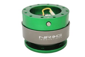 NRG Innovations Quick Release Gen 2.0 Green Body/Titanium Chrome Ring