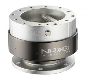 NRG Innovations Quick Release Gen 2.0 Silver Body/Titanium Chrome Ring