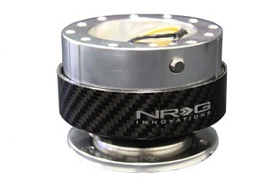 NRG Innovations Quick Release Gen 2.0 Black Body/Silver Carbon Ring
