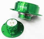 NRG Innovations Quick Release Gen 2.5 Green Body/Titanium Chrome Ring