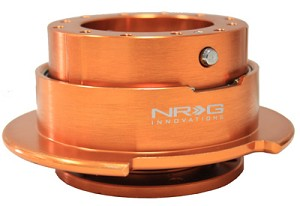 NRG Innovations Quick Release Gen 2.5 Orange Body/Titanium Chrome Ring