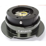 NRG Innovations Quick Release Gen 2.5 Black/Black Chrome Ring (5hole)