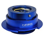 NRG Innovations Quick Release Gen 2.5 (Blue Body w/ Titanium Chrome Ring (5 hole))