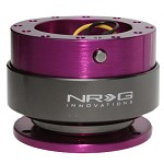 NRG Innovations Quick Release Gen 2.0 Purple Body/Titanium Chrome Ring