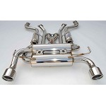 INVIDIA GEMINI ROLLED STAINLESS STEEL TIPS CAT-BACK EXHAUST - 2002-08 NISSAN 370Z
