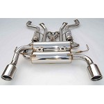 INVIDIA GEMINI ROLLED STAINLESS STEEL TIPS CAT-BACK EXHAUST - 2003-08 INFINITI FX35/45
