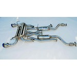 INVIDIA GEMINI ROLLED TITANIUM TIPS CAT-BACK EXHAUST - 2003-06 INFINITI G37 COUPE