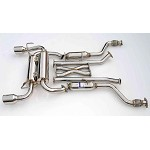 INVIDIA GEMINI ROLLED STAINLESS STEEL TIPS CAT-BACK EXHAUST - 2003-06 INFINITI G37 COUPE