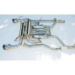 INVIDIA GEMINI SINGLE LAYER TITANIUM TIPS CAT-BACK EXHAUST - 2003-06 INFINITI G37 COUPE