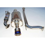 INVIDIA 70mm TITANIUM ROLLED TIP CAT-BACK EXHAUST - 2006-11 HONDA CIVIC SI COUPE