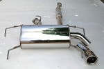 INVIDIA Q300 ROLLED S.S. TIP CAT-BACK EXHAUST - 2008-UP SUBARU IMPREZA WRX 5 DOORS