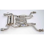 INVIDIA GEMINI ROLLED STAINLESS STEEL TIPS CAT-BACK EXHAUST - 2009-UP INFINITI FX35 2/4WD