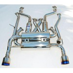 INVIDIA GEMINI SINGLE LAYER TITANIUM TIPS CAT-BACK EXHAUST - 2009-UP INFINITI FX35 2/4WD