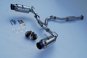 INVIDIA N1SINGLE LAYER TITANIUM TIPS CAT-BACK EXHAUST - 2012-UP SUBARU BR-Z & SCION FR-S