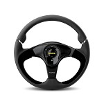 MOMO Steering Wheel - Nero Black Leather, Black Spoke 350mm