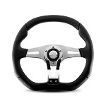 MOMO Steering Wheel - Trek-R - Black Leather, Leather Insert 350mm