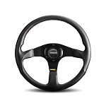 MOMO Steering Wheel - Tuner - Black Leather, Black Spoke 350mm