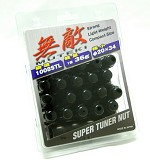 MUTEKI LUG NUTS 12X1.50 - DEEP BLACK CLOSED