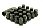 MUTEKI SR35 LUG NUTS CLOSED END 16+4 (LOCKS INCLUDED) 12X1.25 - BLACK 35MM