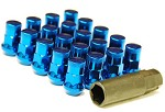 MUTEKI SR35 LUG NUTS CLOSED END 16+4 (LOCKS INCLUDED) 12X1.50 - BLUE 35MM