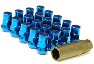 MUTEKI SR35 LUG NUTS CLOSED END 16+4 (LOCKS INCLUDED) 12X1.25 - BLUE 35MM