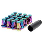 MUTEKI SR35 LUG NUTS CLOSED END 16+4 (LOCKS INCLUDED) 12X1.25 - C.NEON 35MM