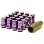 MUTEKI SR35 LUG NUTS CLOSED END 16+4 (LOCKS INCLUDED) 12X1.25 - PURPLE 35MM