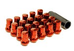 MUTEKI SR35 LUG NUTS CLOSED END 16+4 (LOCKS INCLUDED) 12X1.25 - RED 35MM