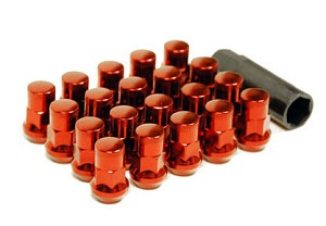 MUTEKI SR35 LUG NUTS CLOSED END 16+4 (LOCKS INCLUDED) 12X1.50 - RED 35MM