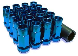 MUTEKI SR48 LUG NUTS OPEN END 12X1.25 - BLUE 48MM