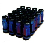 MUTEKI SR48 LUG NUTS OPEN END 12X1.50 - BURNED BLUE 48MM