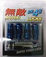 MUTEKI SR48 LOCK SET 12X1.25 - BURNED BLUE 48MM