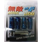 MUTEKI SR48 LOCK SET 12X1.25 - BLUE 48MM