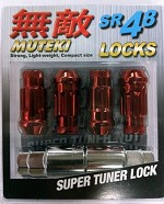 MUTEKI SR48 LOCK SET 12X1.25 - RED 48MM