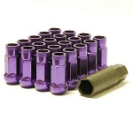 MUTEKI SR48 LUG NUTS OPEN END 12X1.50 - PURPLE 48MM