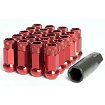 MUTEKI SR48 LUG NUTS OPEN END 12X1.25 - RED 48MM