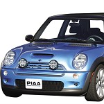 PIAA 540 XTREME WHITE DRIVING LIGHT KIT W/BRACKETS - 2002-07 MINI COOPER